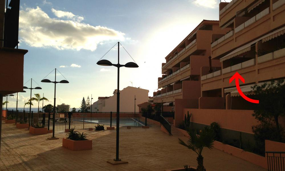 location of the apartment in the Los Seres complex